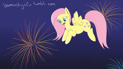 Size: 1920x1080 | Tagged: 30 minute art challenge, artist:verminshy, fireworks, fluttershy, safe, solo