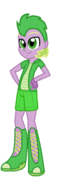 Size: 234x703 | Tagged: safe, artist:selenaede, artist:starryoak, spike, equestria girls, alternate design, equestria girls-ified, hand on hip, human spike, simple background, solo, transparent background
