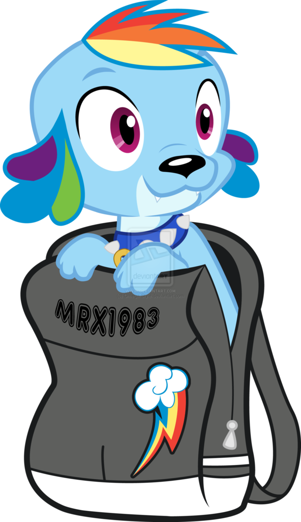 365517 Artistomega Style Backpack Dog Equestria Girls Rainbow