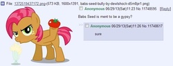 Size: 644x244 | Tagged: safe, babs seed, /mlp/, 4chan, 4chan screencap, thread, wat