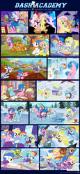 Size: 1155x2508 | Tagged: safe, artist:sorcerushorserus, baby ribbs, brolly, derpy hooves, firefly, fluttershy, rainbow dash, surprise, whitewash, oc, bird, pegasus, pony, comic:dash academy, g1, american football, argie ribbs, autumn, bag, beard, bipedal, board game, book, bowl, box, bubble, butt, calculator, cap, card, celebration, clock, clothes, cloud, cloudy, comic, couch, crosscut saw, curtain, curtains, female, flying, forest, frozen, g1 to g4, game, generation leap, happy, hat, hiding, hind legs, homework, ice, ice pack, ice skating, karaoke, lake, leaf, leaves, male, mare, math, microphone, moustache, nose blowing, paper, paper bag, pencil, pizza, playing, plot, pond, popcorn, river, saw, scarf, shampoo, shower, showers, sick, singing, skates, skating, smiling, snow, snow angel, snowfall, soap, stallion, stick, thermometer, tissue, tissue box, tree, trophy, water, we are the champions, winter, you tried