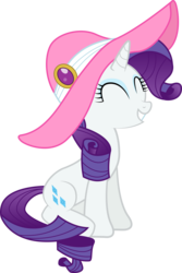 Size: 6789x10162 | Tagged: safe, artist:silentmatten, rarity, absurd resolution, female, hat, simple background, solo, transparent background, vector