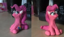 Size: 1024x590 | Tagged: safe, pinkie pie, plasticine, sculpture