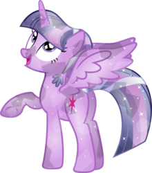 Size: 4844x5500 | Tagged: absurd res, alicorn, artist:theshadowstone, crystallized, crystal pony, crystal twilight, female, mare, pony, safe, simple background, solo, transparent background, twilight sparkle, twilight sparkle (alicorn), vector