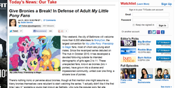 Size: 1277x643 | Tagged: safe, article, brony, news, text, tv guide