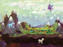 Size: 1586x1200 | Tagged: safe, artist:cygaj, oc, oc only, earth pony, pegasus, pony, unicorn, illustration, scenery, tunnel, underground
