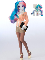 Size: 435x580 | Tagged: safe, edit, princess celestia, equestria girls, doll, human ponidox, official, principal celestia, toy