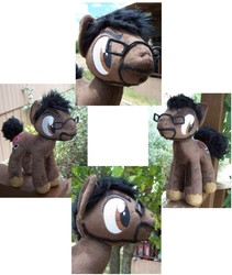 Size: 936x1110 | Tagged: achievement hunter, artist needed, crossover, glasses, irl, photo, plushie, ponified, ray narvaez jr, safe