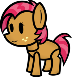 Size: 863x926 | Tagged: safe, artist:fineprint-mlp, babs seed, paper mario, solo, style emulation