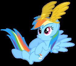 Size: 2000x1733 | Tagged: safe, artist:shelmo69, rainbow dash, sonic rainboom (episode), simple background, solo, transparent background, vector