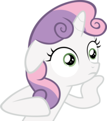 Size: 3692x4153 | Tagged: absurd res, artist:synch-anon, artist:twiforce, bored, meme, ponyville confidential, safe, simple background, solo, sudden clarity sweetie belle, sweetie belle, transparent background, vector