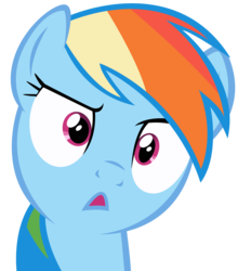 Size: 3314x3763 | Tagged: safe, artist:dentist73548, rainbow dash, :<, female, simple background, solo, transparent background, vector