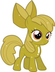 Size: 6130x8009 | Tagged: absurd res, apple bloom, artist:silentmatten, luster dust, luster dust-ified, safe, simple background, solo, transparent background, vector