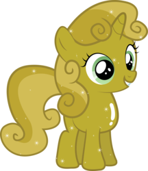 Size: 6155x7131 | Tagged: absurd res, artist:silentmatten, luster dust, safe, simple background, solo, sweetie belle, sweetie gold, transparent background, vector