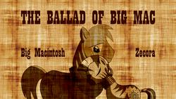 Size: 1600x900   Tagged: safe, artist:thelastgherkin, big macintosh, zecora, earth pony, pony, zebra, fanfic, fanfic art, fanfic cover, macora, male, shipping, stallion, straight