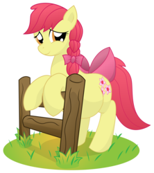 Size: 9600x10800 | Tagged: dead source, safe, artist:xniclord789x, apple bloom, absurd resolution, adorabloom, belly, big belly, cute, female, fence, looking at you, mommabloom, older, pregbloom, pregnant, pregnant apple bloom, simple background, solo, transparent background