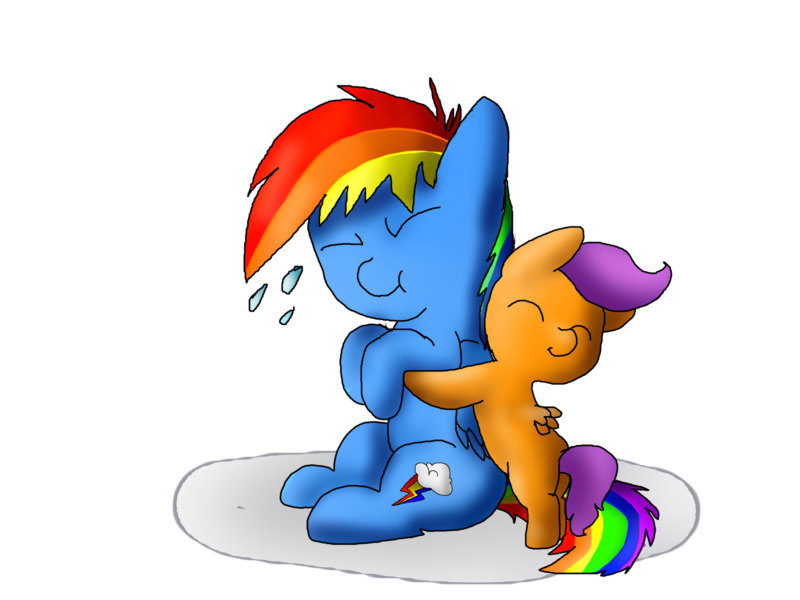 389430 Artist Eeveechuvoli Baby Baby Pony Filly Foal Hug Pony Rainbow Dash Safe Scootaloo Derpibooru Derpibooru is a linear imagebooru which lets you share, find and discover new art and media surrounding the show my little pony: derpibooru