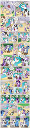 Size: 1200x5050   Tagged: safe, artist:muffinshire, night light, princess celestia, raven, star swirl the bearded, twilight sparkle, twilight velvet, oc, oc:swirling star, comic:twilight's first day, blushing, boop, clothes, comic, crying, cute, dress, falling, filly, filly twilight sparkle, flying, handkerchief, hat, magic, momlestia, mud, muffinshire is trying to murder us, pigtails, ponies riding ponies, princess celestia's school for gifted unicorns, riding, scroll, slice of life, squishy cheeks, statue, tears of joy, telekinesis, twiabetes, twilight riding twilight velvet