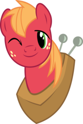 Size: 4046x6000 | Tagged: absurd res, artist:synch-anon, artist:twiforce, big macintosh, earth pony, male, pony, safe, simple background, solo, stallion, transparent background, vector, wink