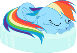 Size: 1908x1314 | Tagged: safe, artist:blueblitzie, rainbow dash, female, simple background, sleeping, solo, transparent background, vector