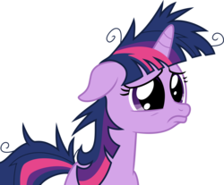 Size: 7239x6000 | Tagged: safe, artist:mactavish1996, twilight sparkle, pony, unicorn, lesson zero, absurd resolution, dilated pupils, female, floppy ears, frown, mare, messy mane, pouting, sad, simple background, solo, transparent background, twilight snapple, unicorn twilight, vector