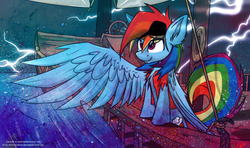 Size: 1162x688 | Tagged: artist:ralek, eyepatch, pirate, pirate dash, rainbow dash, safe, solo