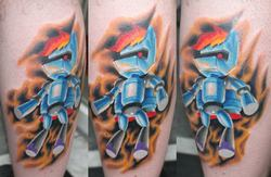 Size: 960x626 | Tagged: artist:johnjoseco, human, irl, irl human, .mov, photo, rainbow dash, r-dash 5000, safe, tattoo