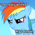 Size: 400x402 | Tagged: safe, rainbow dash, angry, filly, filly rainbow dash, food, glare, image macro, jimmies, nose wrinkle, scrunchy face, solo, sprinkles, younger