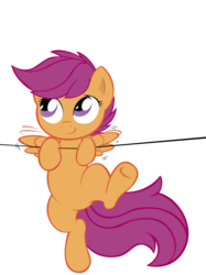 Size: 7491x10000 | Tagged: safe, artist:alexpony, artist:joey darkmeat, scootaloo, .psd available, absurd resolution, female, simple background, solo, transparent background, vector