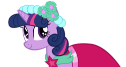Size: 10000x5350 | Tagged: safe, artist:alexpony, twilight sparkle, a canterlot wedding, .psd available, absurd resolution, bridesmaid dress, clothes, dress, female, simple background, solo, transparent background, vector