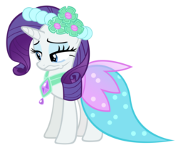 Size: 10000x8438 | Tagged: safe, artist:alexpony, rarity, a canterlot wedding, .psd available, absurd resolution, bridesmaid dress, clothes, crying, dress, female, simple background, solo, transparent background, vector