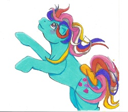 Size: 1952x1700   Tagged: safe, artist:sweetunicorn89, sweet stuff, twinkle eyed pony, g1, cute, female, solo, sweet sweet stuff, traditional art