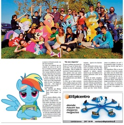 Size: 1128x1136 | Tagged: safe, article, brony, chile, el epicentro, newspaper, spanish