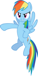 Size: 4883x9582 | Tagged: absurd res, artist:exe2001, rainbow dash, safe, simple background, solo, transparent background, vector