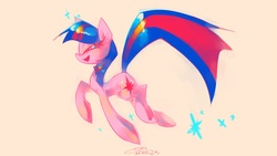 Size: 2133x1200 | Tagged: artist:iopichio, safe, simple background, solo, twilight sparkle