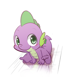 Size: 800x903 | Tagged: artist:kmart0614, baby, baby dragon, baby spike, blushing, cute, dragon, floor, green eyes, looking at you, male, reflection, safe, simple background, sitting, solo, spikabetes, spike, white background