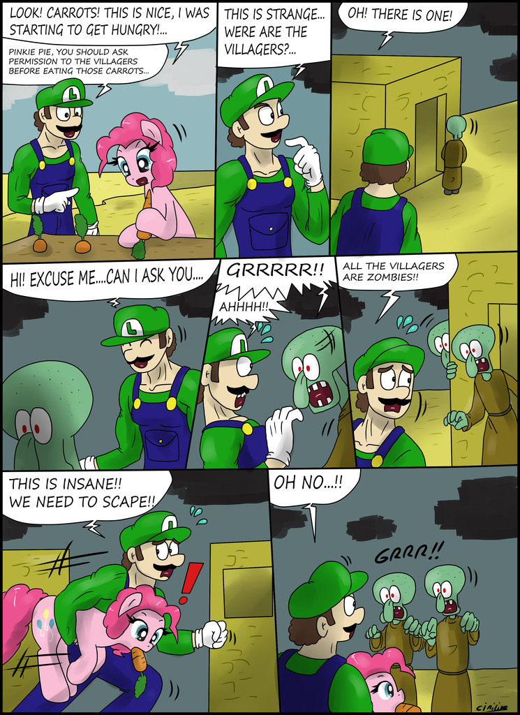 Pinkie pie creeper minecraft
