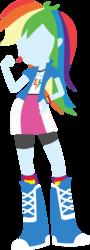 Size: 1280x3542   Tagged: safe, artist:agrol, rainbow dash, equestria girls, eqg promo pose set, minimalist, simple background, solo, transparent background, vector
