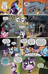 Size: 1040x1600 | Tagged: artist needed, safe, idw, applejack, cave troll jim, fluttershy, pinkie pie, queen chrysalis, rainbow dash, rarity, twilight sparkle, cave troll, spoiler:comic, spoiler:comic02, advertisement, and call him george, brony, cameo, comic, crossover, fisheye lens, idw advertisement, mane six, official comic, optimus prime, speech bubble, the return of queen chrysalis, transformers
