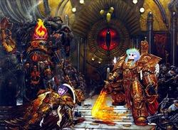 Size: 804x587   Tagged: safe, edit, princess celestia, sunset shimmer, twilight sparkle, equestria girls, god-emperor of mankind, heresy, horus heresy, humanized, principal celestia, sunset satan, warhammer (game), warhammer 30k, warhammer 40k