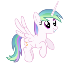 Size: 3600x3240   Tagged: safe, artist:ikillyou121, derpy hooves, princess celestia, alicorn, pony, cute, derpicorn, derplestia, female, flying, fusion, grin, mare, race swap, recolor, simple background, smiling, solo, spread wings, squee, transparent background, vector