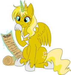 Size: 465x492   Tagged: safe, artist:lulubell, oc, oc only, oc:ticket, alicorn, pony, alicorn oc, magic, princess, simple background, solo, transparent background