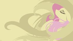 Size: 1920x1080 | Tagged: safe, artist:omniscient-duck, fluttershy, dat mane, female, solo, vector, wallpaper