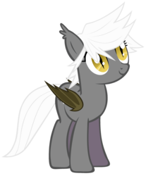 Size: 2480x3000 | Tagged: safe, artist:zee66, oc, oc only, oc:gloom wing, bat pony, pony, death stare, simple background, solo, transparent background, vector