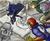 Size: 1200x975 | Tagged: safe, artist:johnjoseco, artist:michos, princess celestia, princess luna, human, cape, captain falcon, clothes, colored, crossover, humanized, light skin, link, military uniform, r.o.b., statue, super smash bros., sword, uniform, warrior luna