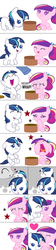 Size: 1800x8100 | Tagged: safe, artist:beavernator, princess cadance, shining armor, twilight velvet, pony, all glory to the beaver grenadier, baby, baby cadance, baby pony, babying armor, beavernator is trying to murder us, colt, colt shining armor, comic, crying, cute, cutedance, daaaaaaaaaaaw, female, filly, filly cadance, foal, heart, hnnng, kissing, male, nose kiss, pegasus cadance, prank, shining adorable, weapons-grade cute, younger