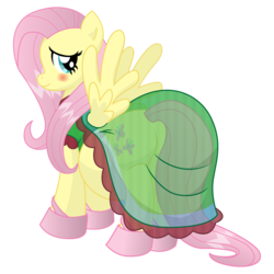Size: 10500x10500 | Tagged: safe, artist:xniclord789x, fluttershy, absurd resolution, belly, blushing, butt, clothes, cute, dress, female, flutterbutt, looking at you, plot, preggoshy, pregnant, pregshy, see-through, shyabetes, simple background, solo, transparent, transparent background