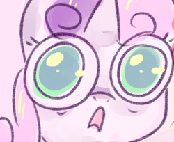 Size: 500x408 | Tagged: safe, sweetie belle, reaction image, shocked, solo