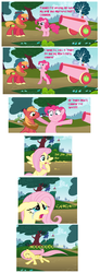 Size: 988x2690 | Tagged: safe, big macintosh, fluttershy, pinkie pie, comic, female, fluttermac, male, mspaintponies, party cannon, pinkiemac, pinky-mac's cannon, shipping, straight, text