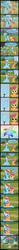 Size: 1700x22444 | Tagged: safe, artist:thunderhawk03, rainbow dash, scootaloo, comic, crying, feels, flower, harsher in hindsight, heartwarming, hug, rainbow, scootalove, sisters, symbolism, winghug